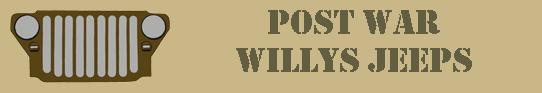 Willys Jeeps Post War